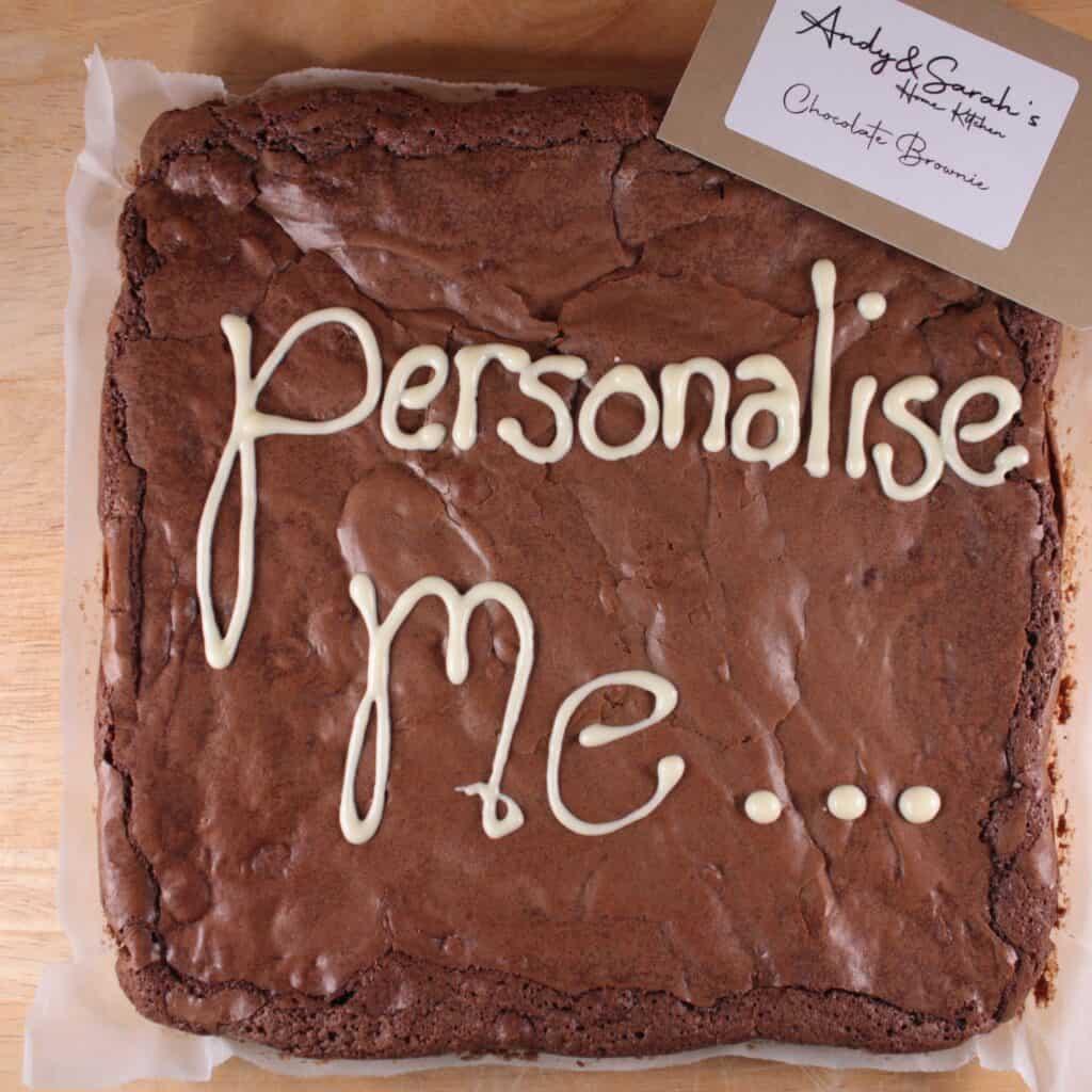 Chocolate brownie Personalised