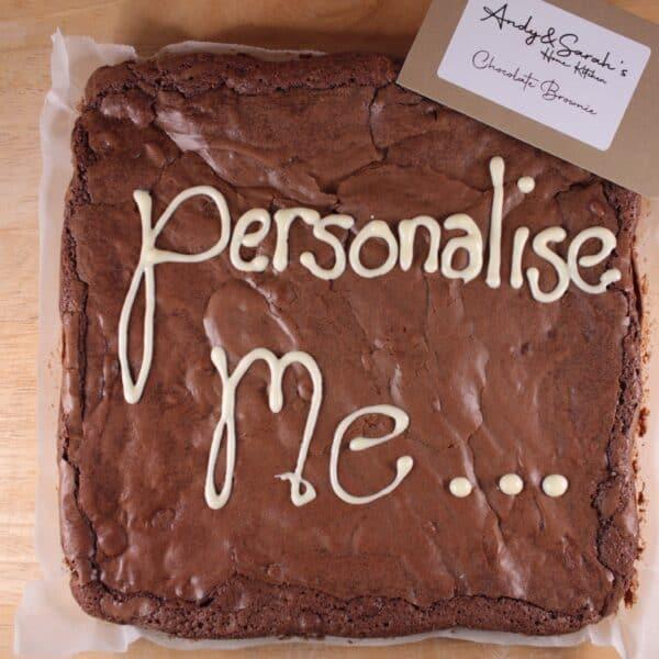 "Brownie chocolate | Double Chocolate Brownie Giant 8"" Personalised"