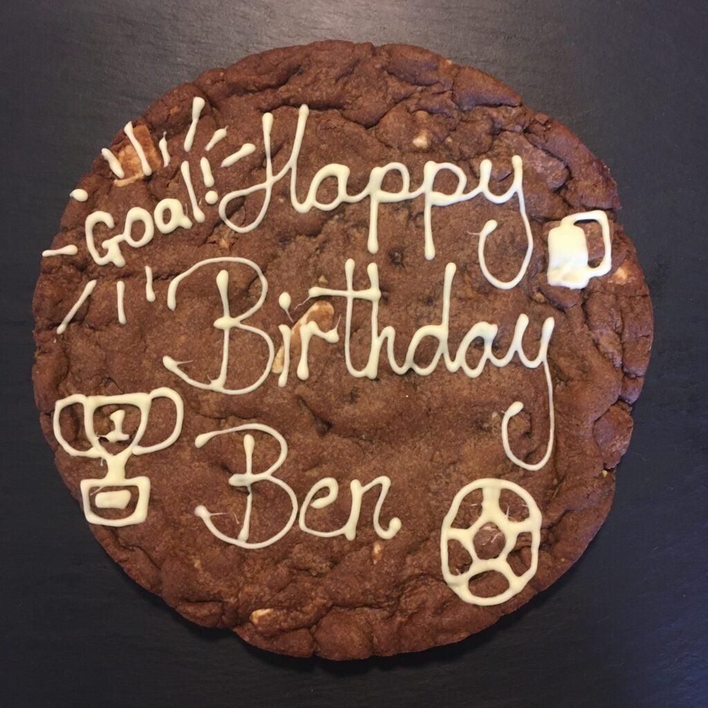 Triple Chocolate Personalised Giant Cookie HAPPY BIRTHDAY