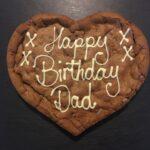 Chocolate Orange XL Personalised Giant Cookie birthday cookie football cookie