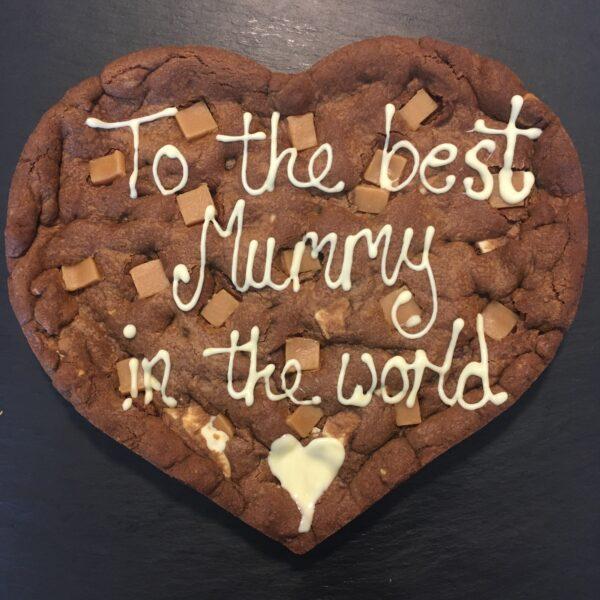 Handmade fudge cookie giant heart shape mothers day