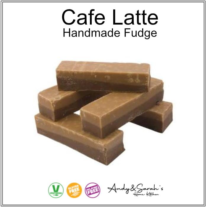 cafe latte coffee and cream premium hand made uk british fudge