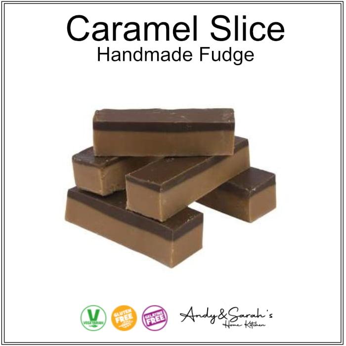 Caramel Slice caramel flavoured handmade fudge uk
