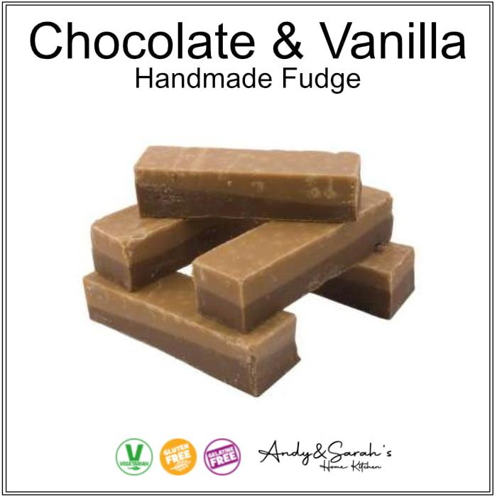 chocolate and vanilla slice premium hand made british fudge
