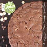 gluten Tripple Chocolate corner | GLUTEN FREE Triple Chocolate Giant Cookie