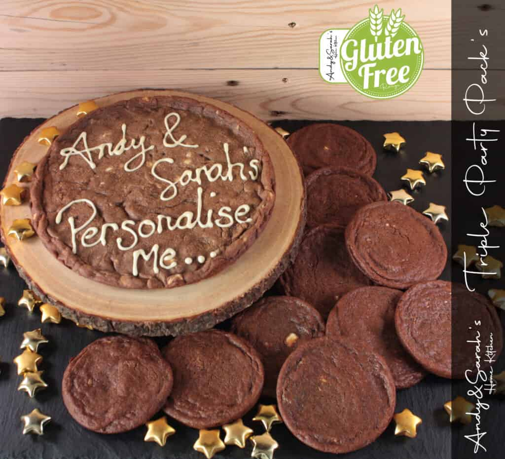 gluten free part pack of cookies with giant personalised cookie uk delivery