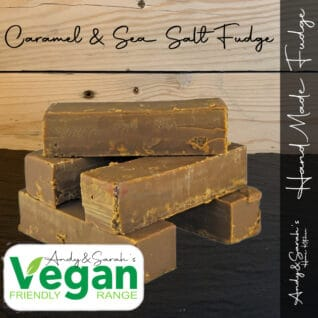 vegan salted caramel handmade fudge
