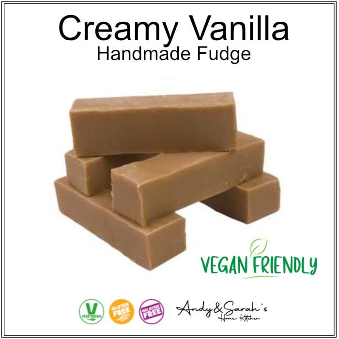 vegan handmade vanilla fudge