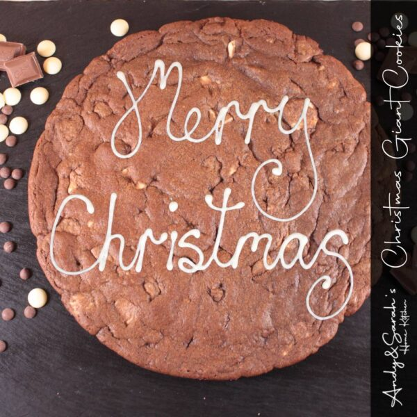 merry christmas giant cookie