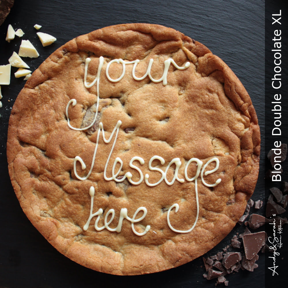 Blonde Double Chocolate Personalised Giant Cookie