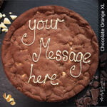 Chocolate Orange XL Personalised Giant Cookie