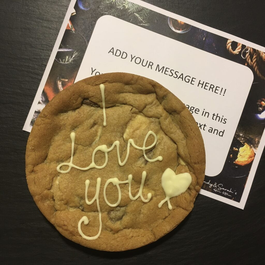 i love you giant cookie card 6 inch cookie