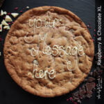 Raspberry & Chocolate Personalised Giant Cookie
