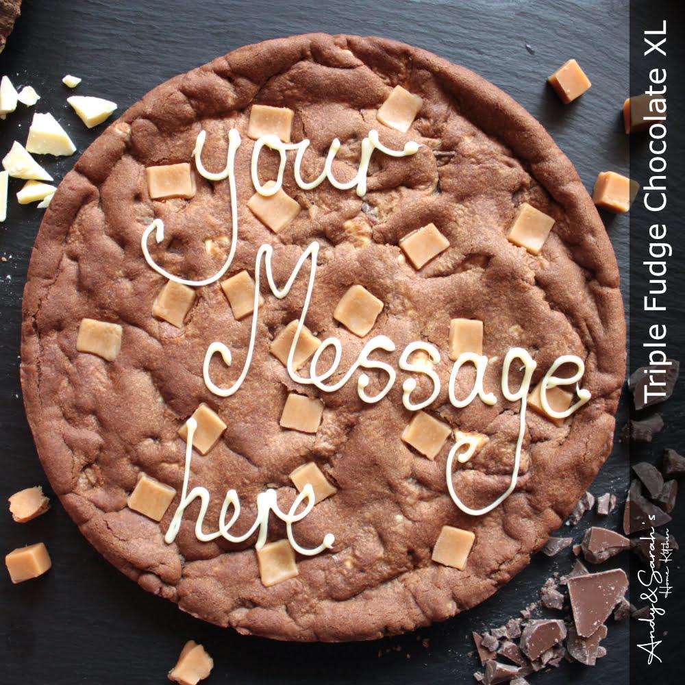 Handmade Fudge XL Personalised Giant Cookie