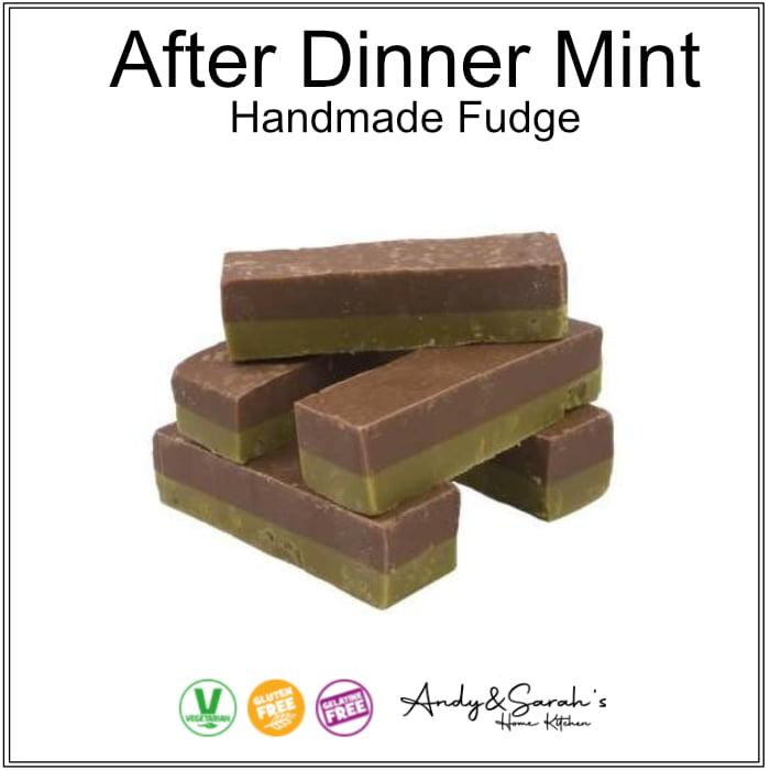 aFTER DINNER CHOCOLATE MINT FUDGE HANDMADE FUDGE