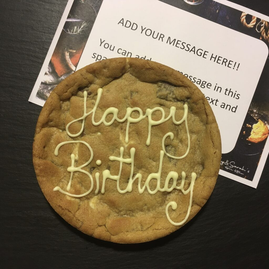 Happy Birthday giant cookie card 6 inch cookie