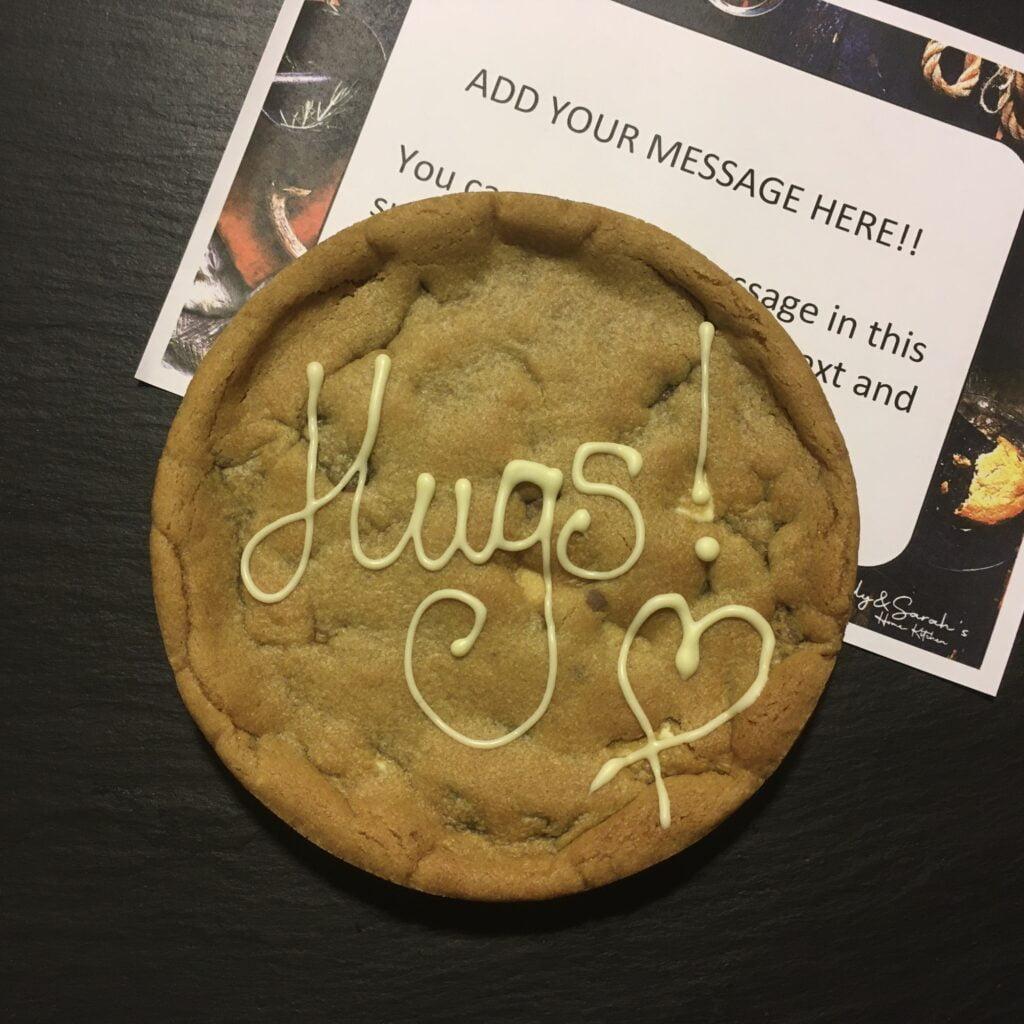 hugs giant cookie card 6 inch cookie