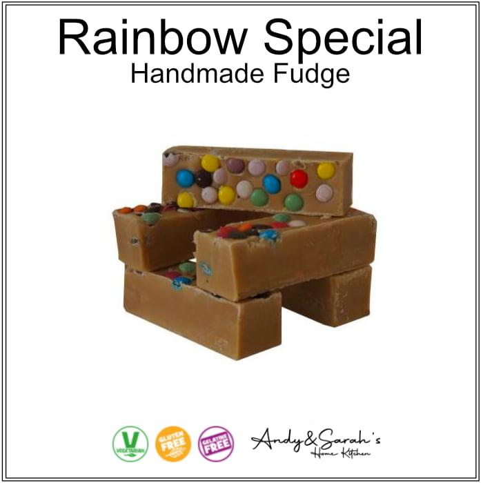 rainbow handmade fudge