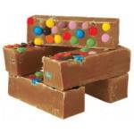 rainbow handmade fudge vanilla and smarties uk made fast delivery next day