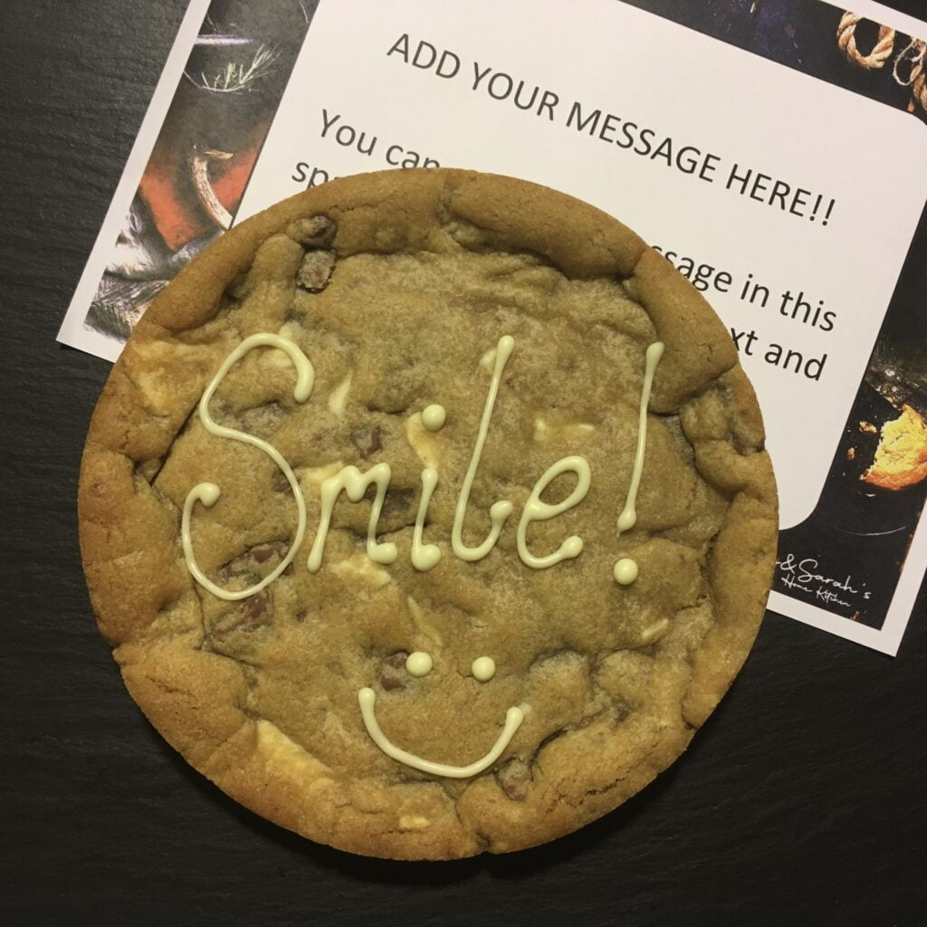 smile giant cookie card 6 inch cookie