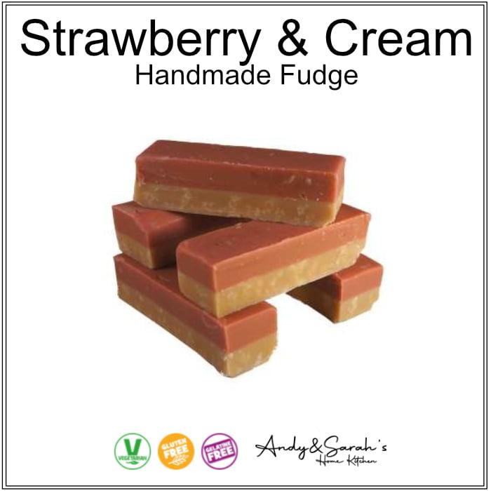 strawberry and cream handmade fudge uk