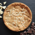 thank you giant cookie card 6 inch cookie