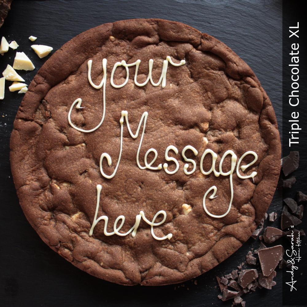 Triple Chocolate Personalised Giant Cookie