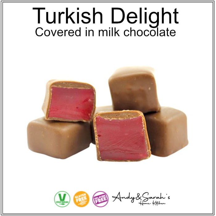 HAND MADE CHOCOLATE COVERD TURKISH DELIGHT