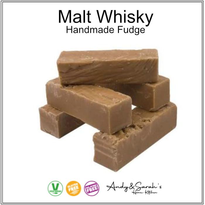 whisky handmade fudge
