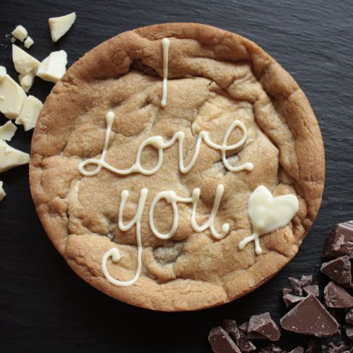 i love you giant cookie gift card uk delivery