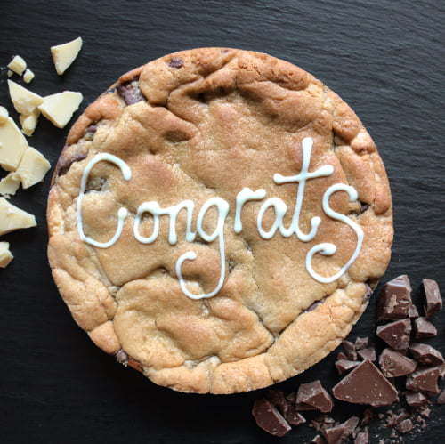 congrats and congratulations gifts, giant cookie card next day delivery uk